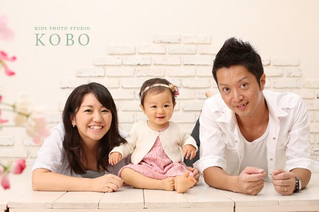 可愛い家族写真