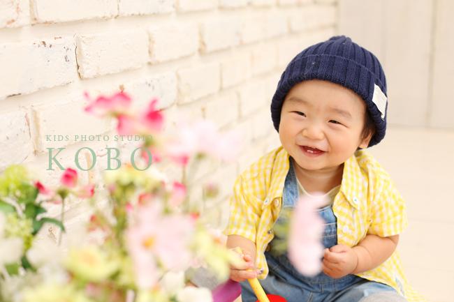 1歳の写真撮影