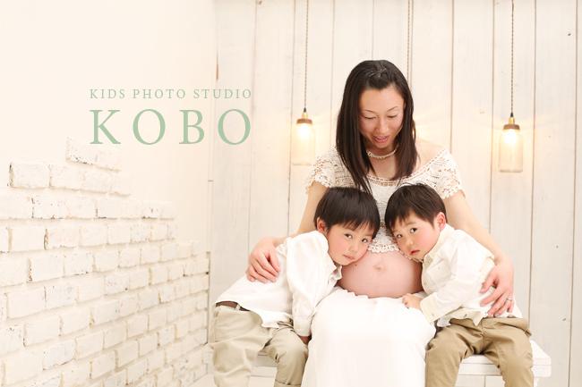 フォトスタジオコボ戸田店で記念撮影