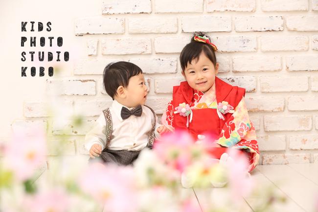 可愛い姉弟写真