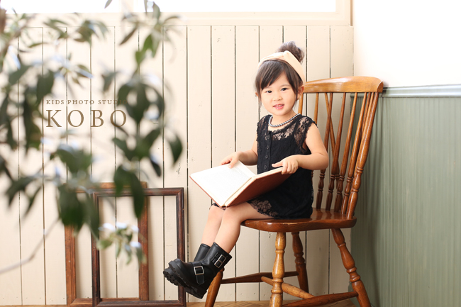 大人っぽい3歳の写真