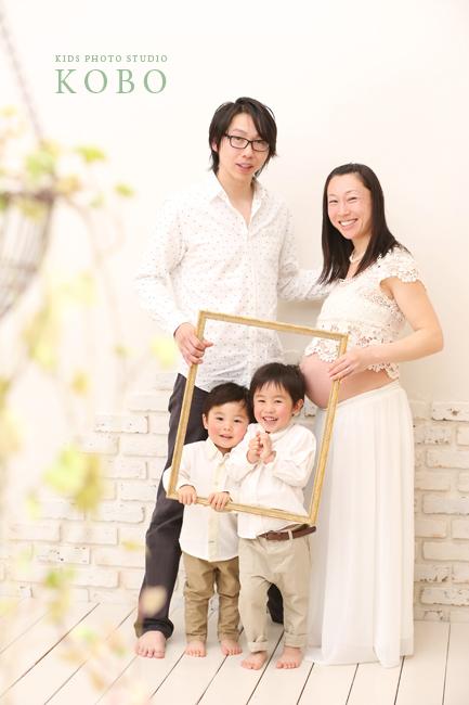マタニティの家族写真