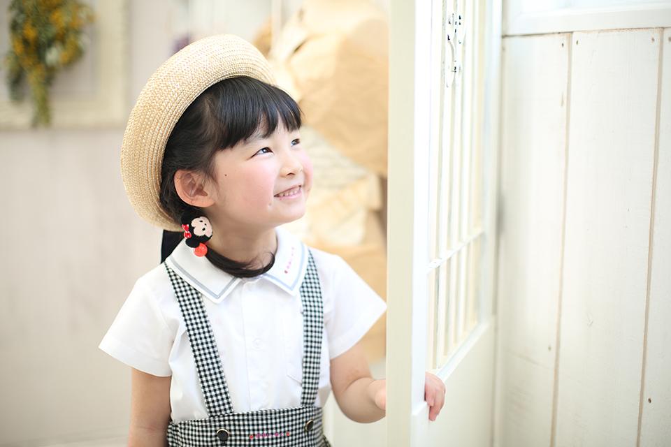 幼稚園の入園記念撮影