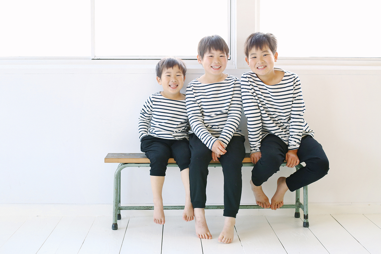 三兄弟の記念写真