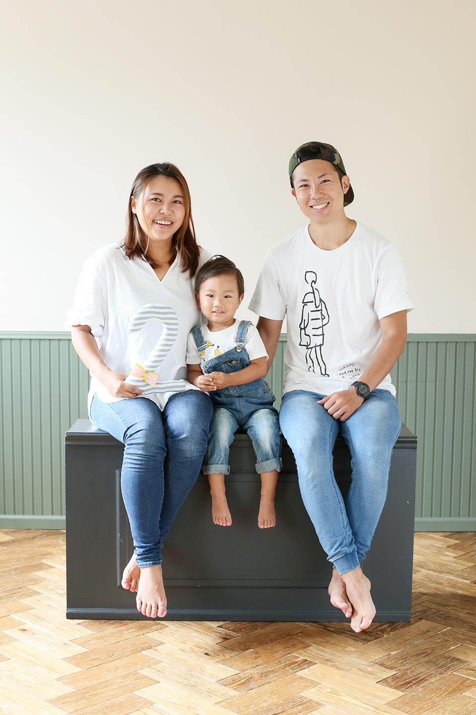 2歳お誕生日 家族写真