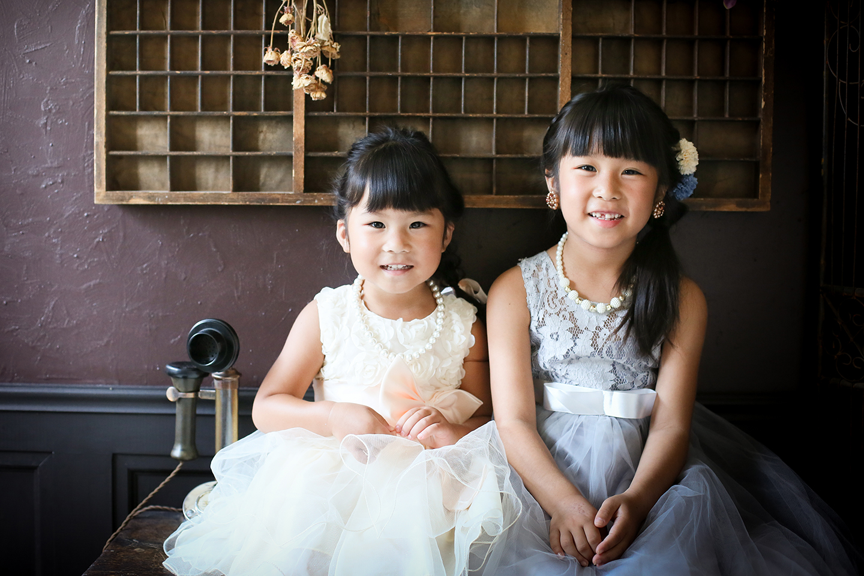 姉妹でドレス撮影