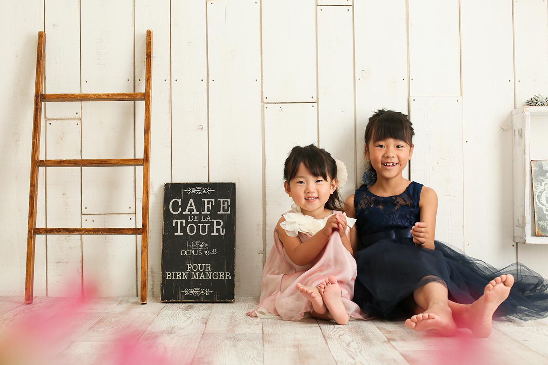 ドレスの姉妹撮影